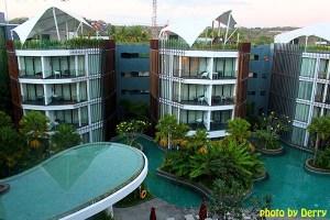 Le Meridien, hotel bintang 5 di kawasan Jimbaran. Saat berkunjung, harga kamar termurah di tempat ini sekitar Rp 2,1 juta kalau dirupiahkan.