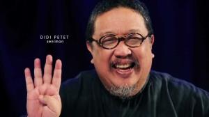 Terima kasih sangat, Mas Didi Petet. Saya sangat senang Anda pernah memberi warna perfilman Indonesia.