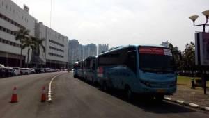 Shuttle Bus gratis, nyaman dan berpendingin udara juga disediakan ke beberapa tujuan di Jadetabek.